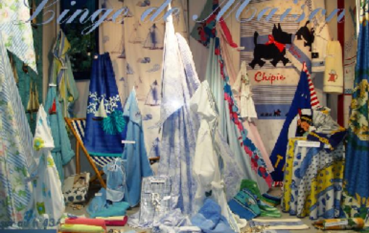 Slide accueil vitrine bleue