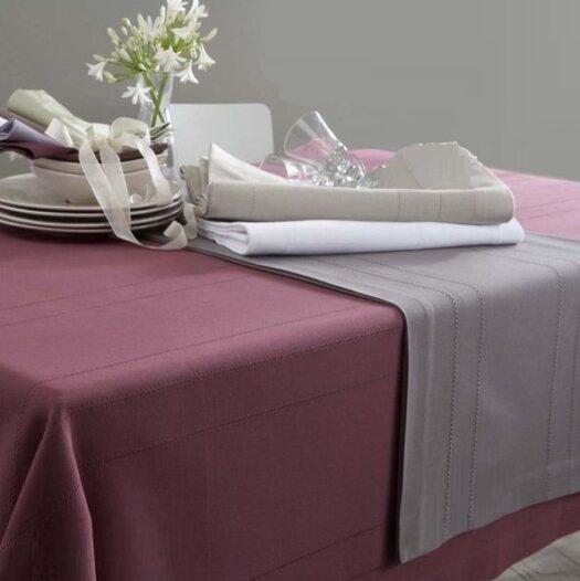 Linge de table ensemble nappe serviettes et vis à vis chez vrancken