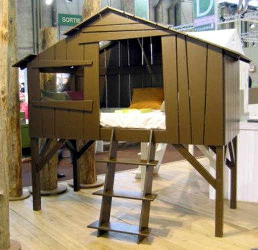lit cabane pour enfants