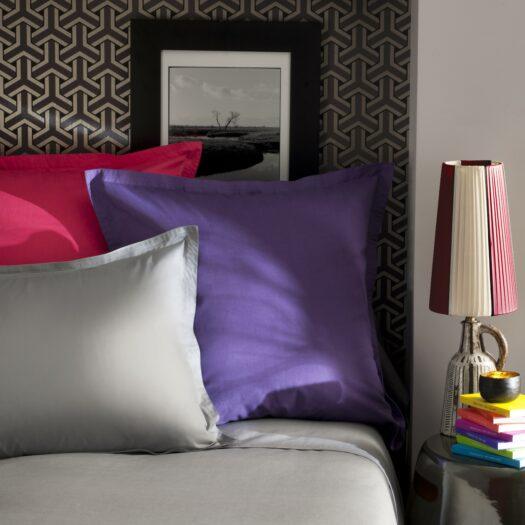 Linge de lit en coton satin chez Vrancken